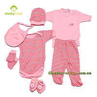 Подарочный комплект для новорожденной девочки розовый