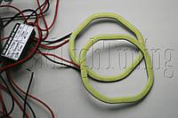 """Ангельские глазки LED-COB SQR светодиодные квадратные 95 мм. для биксеноновых линз 3,0"""" (⌀76мм)"""