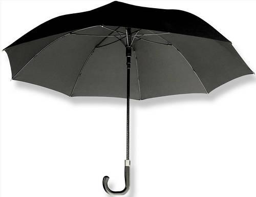Мужской классический зонт-трость, полуавтомат EuroSCHIRM Sporty Elegance W330-XBL/HX11001 черный