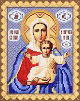 РИП-028 Леушинская икона Божией Матери («Аз есмь с вами, и никтоже на вы» схема на атласе для вышивки бисером