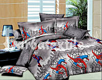 """Постельное для мальчиков """"Человек-паук"""", тк. Ранфорс, 1,5 сп"""