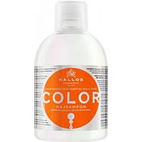 Шампунь с льняным маслом Kallos color shampoo with linseed oil  Калос, 1 л, Венгрия