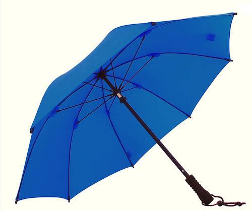 Практичный механический зонт-трость EuroSCHIRM Swing W2U69060/SU18179 синий