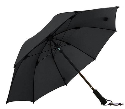 Прочный механический мужской зонт-трость EuroSCHIRM Swing W2U69120/SU17037 черный