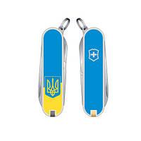 Складной нож Victorinox Classic SD Ukraine желто-голубой с Гербом Vx06223.7R3