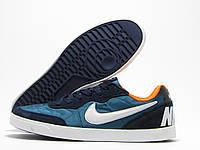 Кеды мужские Nike бирюзовые с темно-синим (Найк)