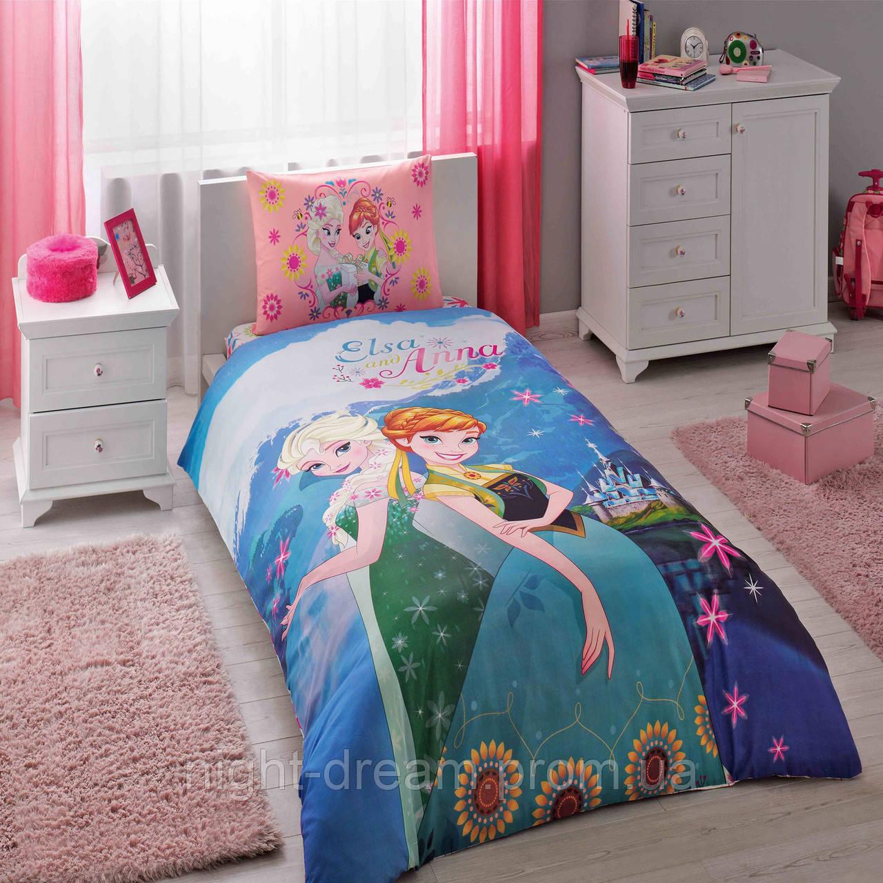 Подростковое постельное белье FROZEN ELSA & ANNA DISNEY от TAC