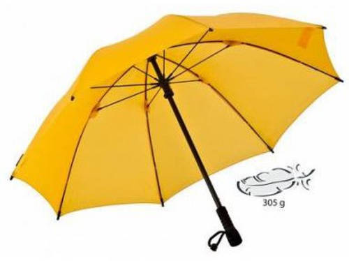 Яркий надежный  зонт-трость EuroSCHIRM Swing Flashlite W2F69007/SU14314 желтый