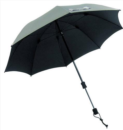 Замечательный механический зонт-трость EuroSCHIRM Swing Handsfree W2H6SI17/SU17690 серебристый