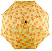 Превосходный женский механический зонт-трость в клетку EuroSCHIRM Swing Handsfree W2H6-CW3/SU17686