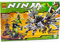 """Конструктор аналог LEGO Ninjago 9450 BELA """"Последняя битва"""" 911 деталей 9789"""