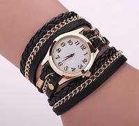 Женские часы-браслет. Черные