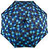 Эффектный механический зонт-трость в клетку EuroSCHIRM Swing Handsfree W2H6-CWS1/SU18256 синий