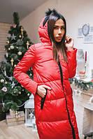 Молодежное женское пальто на молнии плащевка утеплитель синтепон