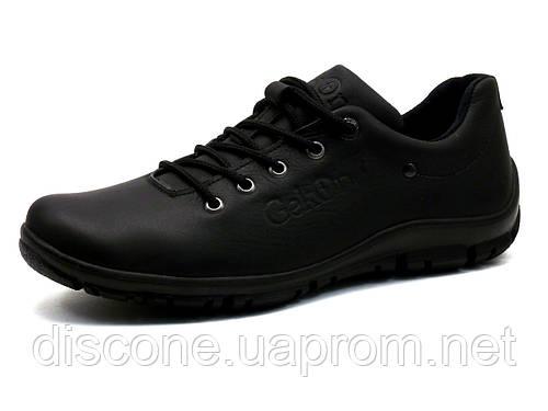 Ботинки мужские на меху низкие Gekon Urban Casual 10BVM кожаные черные