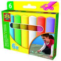 Набор для творчества SES Мелки для асфольта Веселая палитра (6 цветов) (02206S)