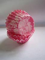Форма/мафина розовые розы маленькие (код 01808)
