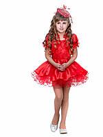 Платье красное пышное