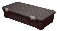 Ящик для хранения пластиковый  Ротанг коричневый 42 л 790Х400Х180 мм Curver CR-0154