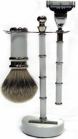 Набор для бритья: бритва и помазок на подставке Rainer Dittmar, 1304-2-14