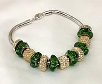 Браслет Pandora от Swarovski женский зеленый микс