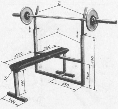 Как самому сделать тренажеры для качания мышц