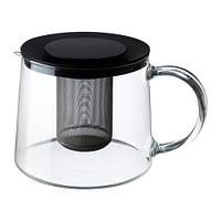 """IKEA """"РИКЛИГ"""" Чайник заварочный, стекло 1,5 л."""