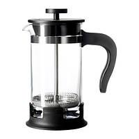 """IKEA """"УПХЕТТА"""" Кофе-пресс/заварочный чайник, стекло, нержавеющ сталь 0,4 л."""