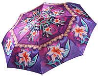 Женский зонт Три Слона Лилии САТИН ( полный автомат ) арт.131-10