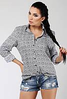 Красивая женская рубашка, орнамент - мелкие цветочки