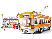 Конструктор Троллейбус с остановкой - Sluban M38 B 0332 - 465 деталей