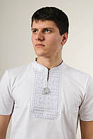 """Чоловіча футболка короткий рукав """"Гладь"""" сіра"""