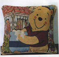 Декоративные наволочки 45х45 2шт. Arya Winnie Pooh, хлопок/полиэстер, гобелен Вини Пух медовый.