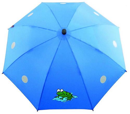 Яркий детский зонт-трость EuroSCHIRM Swing Liteflex kids W2K6287C/SU18182 синий