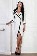 Платье Классика (белый/черный)