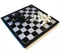 Шахматы, шашки, нарды дорожный набор 25см*25см