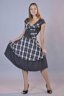 Платье Фигаро (белая клетка)