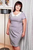 Платье Эльвира (серый лен)