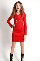 Оригинальное женское платье красного цвета