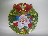 """Новогодний декор  """"Дед Мороз с Ангелом"""" (картон)"""