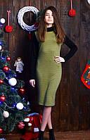Женское платье средней длины