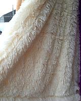 Плед ворсистый из бамбуковых волокон айвори
