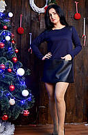 Модное платье прямого кроя с круглым вырезом, фото 1