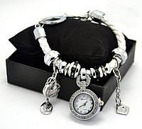 Часы - браслет Pandora белая , черная . Женские наручные часы