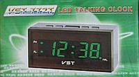 Говорящие часы с зеленым светодиодным дисплеем