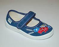 Тапочки для девочек Waldi арт.60-307 джинс букет
