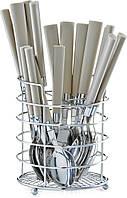 Набор столовых приборов в подставке ZELLER латте 17 предметов (24937)