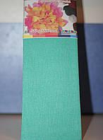 Бумага для творчества разноцветная гофрированная (крепированная) 2000*500мм. Цвет бирюзовый.