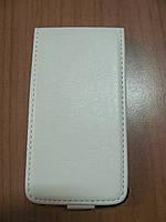 Чехол-флип для Lenovo A390 / A376 белый