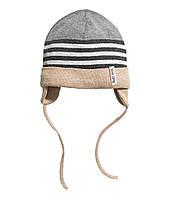 Детская вязаная шапочка для мальчика. 12-24 месяца